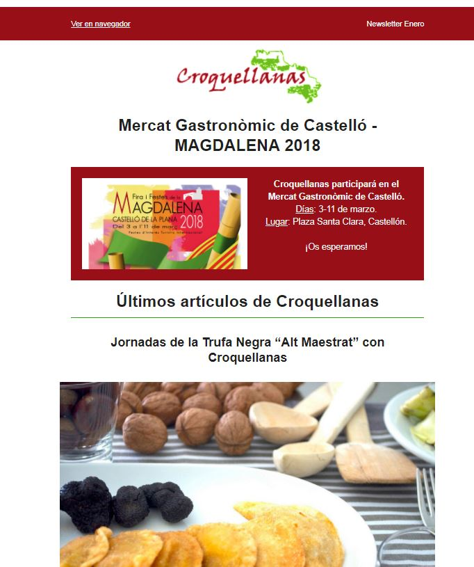Newsletter Croquellanas