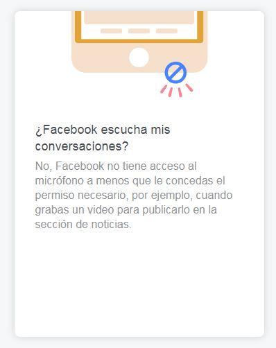 ¿Facebook escucha mis conversaciones?